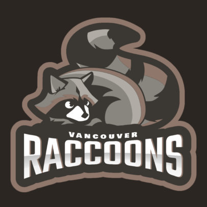 Mascot Logo Generator for Sports Teams Featuring a Raccoon Illustration 1649p 2964