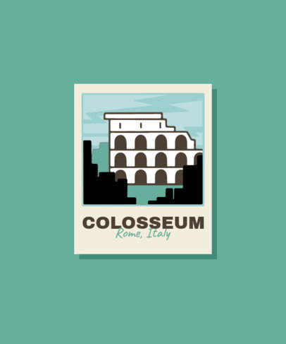 Illustrated T-Shirt Design Maker Featuring the Roman Colosseum 3329a-el1