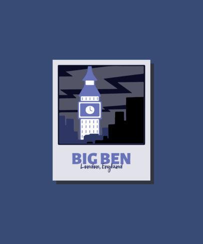 T-Shirt Design Generator with an Illustrated Big Ben 3329c-el1