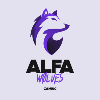 Gaming Logo Generator with an Abstract Graphic of a Wolf 3348c-el1