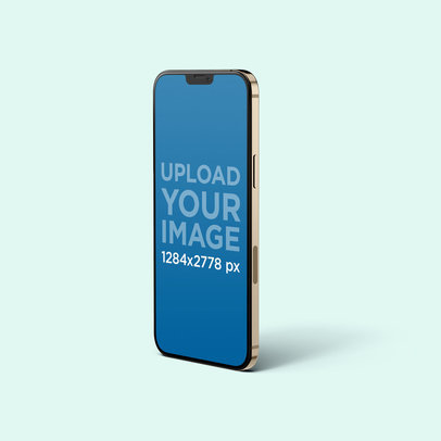 iPhone 12 Pro Max Mockup Featuring a Plain Background 5013-el1