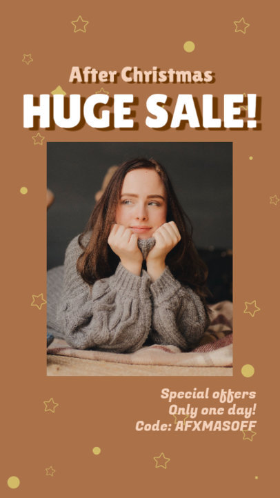 Instagram Story Generator for an After Christmas Sale Announcement 3284h