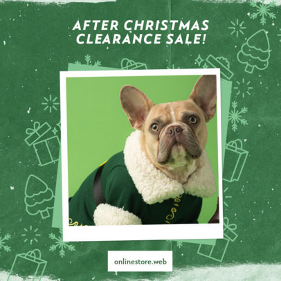Instagram Post Design Generator for an After Christmas Clearance Sale 3282a
