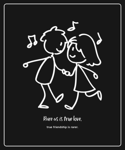 T-Shirt Design Maker for Valentine's Day with Dancing Cartoons 3362e-el1