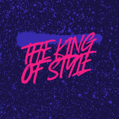 Streetwear Logo Template Featuring a Graffiti Aesthetic 3975c