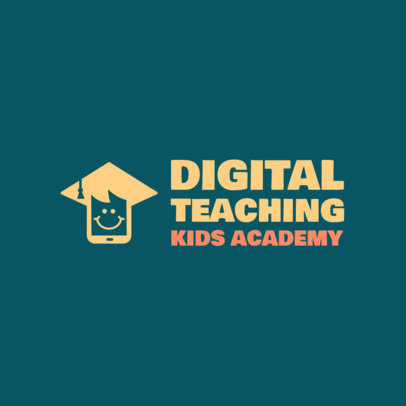 Logo Template for an e-Learning School for Kids 3978H