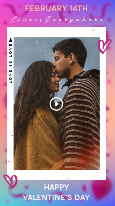 Instagram Story Template for Valentine's Day Dedications 3297