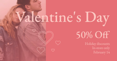 Facebook Post Design Maker to Announce a Valentine's Day Promo 3302