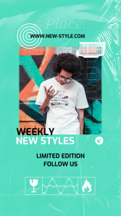 Instagram Story Video Template for a Limited Streetwear Line 2499-el1