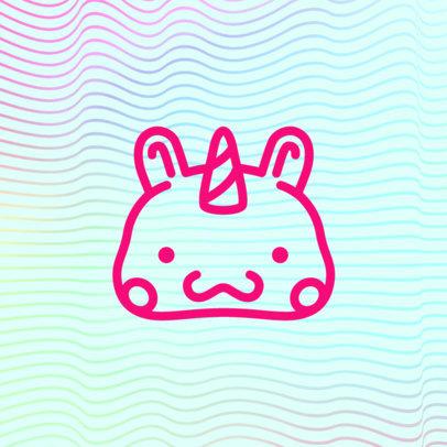 Patreon Profile Picture Design Maker Featuring a Cute Unicorn Graphic 3400c-el1