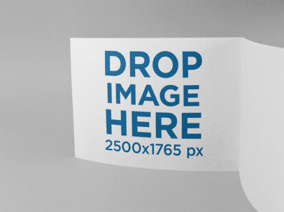 Open Booklet Mockup Standing Against a Solid Background a15091