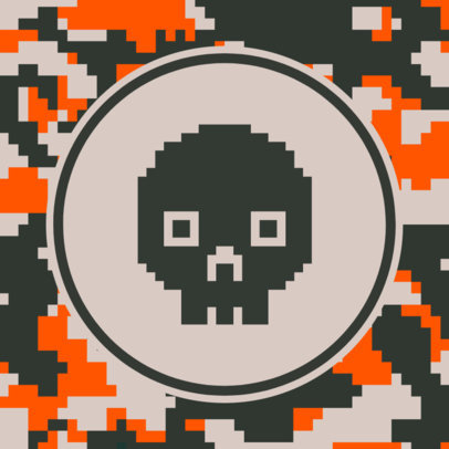 Patreon Profile Picture Design Template with Pixelated Camo Textures 3384-el1
