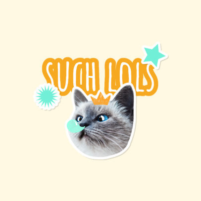 Twitch Emote Logo Generator Featuring a Funny Cat Clipart 3982b