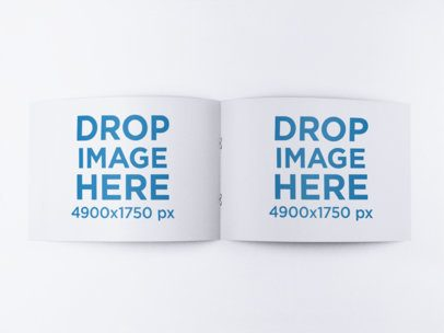 Open Booklet Mockup on a Flat Surface a15083