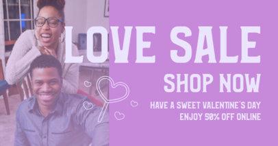 Facebook Post Design Generator for a Valentine's Day Online Sale 3302b