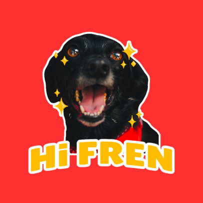 Twitch Emote Logo Creator with a Happy Dog Graphic 3981d