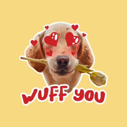 Twitch Emote Logo Maker with a Lovely Dog Graphic 3981f
