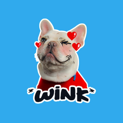 Twitch Emote Logo Generator Featuring a Cute Dog Winking 3981g