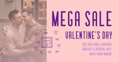 Valentine's Day-Themed Facebook Post Template for a Mega Sale 3302d