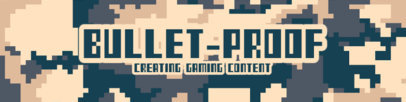 Patreon Cover Design Generator for Game Developers Featuring a Camouflage 8-Bit Pattern 3385c-el1