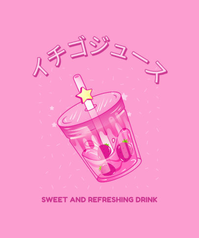 T-Shirt Design Generator with a Kawaii Beverage Graphic 3314d