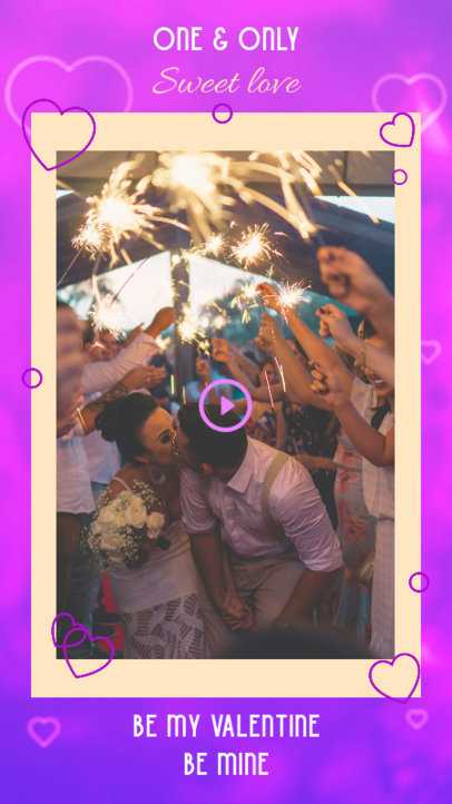 Instagram Story Template Featuring a Virtual Valentine's Day Card 3297h