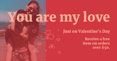 Facebook Post Design Generator for a Valentine's Day Special Promo 3302g