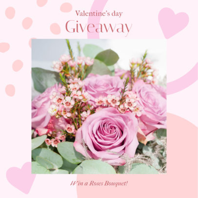 Instagram Post Design Generator for a Valentine's Day Giveaway Announcement 3300g