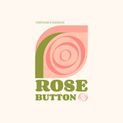 Clothing Brand Logo Maker Featuring an Abstract Rose  3986b