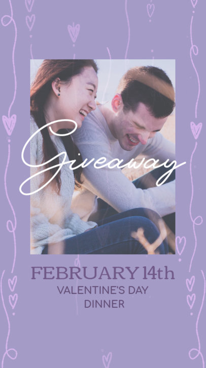 Instagram Story Template for a Valentine's Day Giveaway 3298i