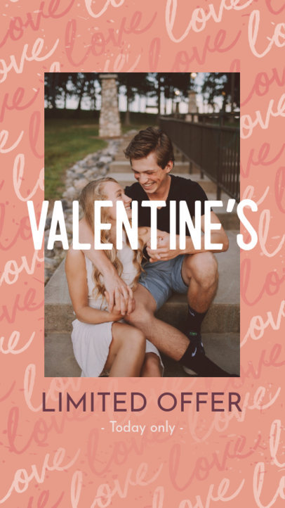 Instagram Story Generator for a Valentine's Day Limited-Time Offer 3298a