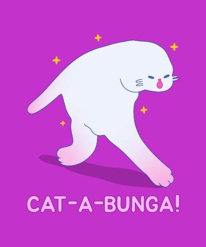 T-Shirt Design Generator Featuring a Weird Cat Dancing 3326e