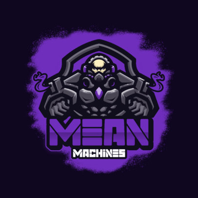 Logo Maker for a Team with a Mean Cyborg Graphic 3460a-el1
