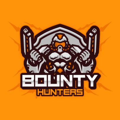 Team Logo Template Featuring a Bounty Hunter Cyborg 3460d-el1