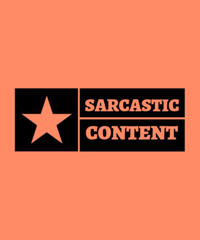 Sarcastic T-Shirt Design Maker with a Star Graphic 3336e