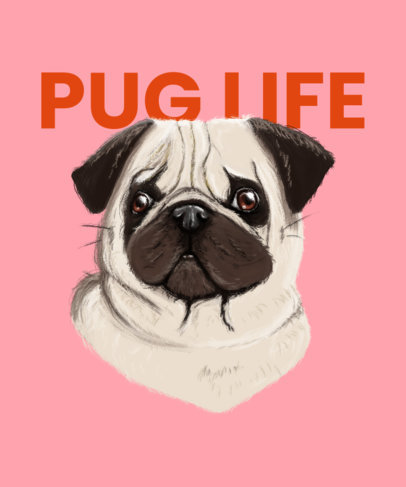 T-Shirt Design Maker Featuring a Pug Graphic 3322c