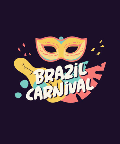 T-Shirt Design Maker Featuring Graphics Inspired by the Brazilian Carnival 3454-el1