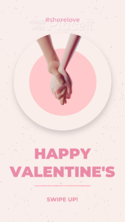 Valentine's Day Instagram Story Video Maker with a 3D Animation 2680