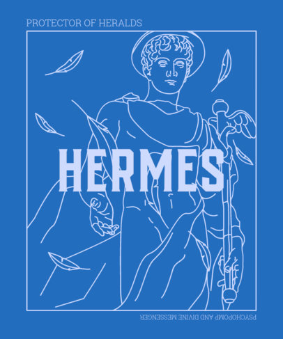 T-Shirt Design Maker Featuring a Graphic of the Greek God of Travelers 3316a