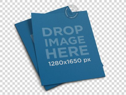 Pair of Flyers Template Lying on a Transparent Surface a15048