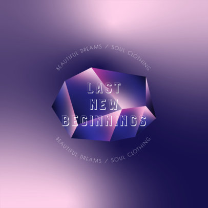 Logo Template for Clothing Brands Featuring a Geometric Gemstone Illustration 4010e