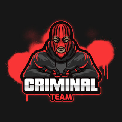Gaming Logo Maker Featuring Thugs and Criminals 3424-el1