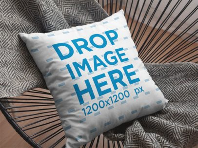 Pillow Mockup Lying on an Acapulco Chair a15177