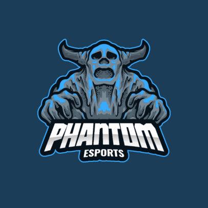 e-Sports Logo Generator with a Graphic of a Terrifying Phantom 3420c-el1