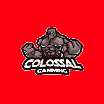 Gaming Logo Template with a Graphic of a Giant Golem 3420e-el1
