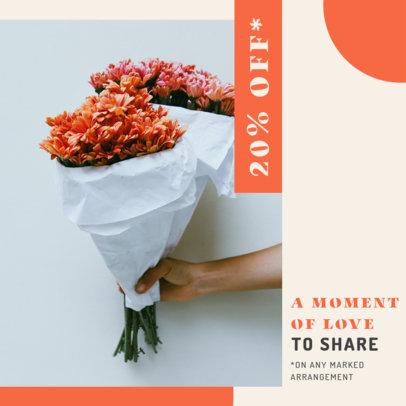 Instagram Post Design Generator for Flower Stores 3436b-el1