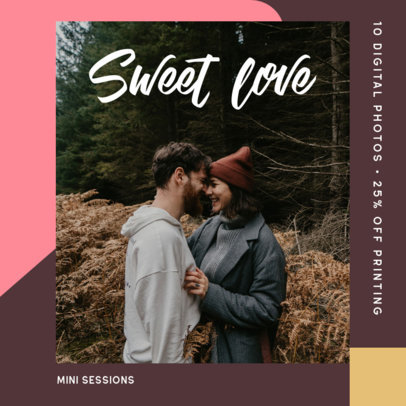 Instagram Post Design Maker for Valentine's Day Photoshoot Deals 3430f-el1