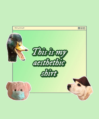 Silly Quote T-Shirt Design Maker with an Internet Browser Aesthetic 3352a