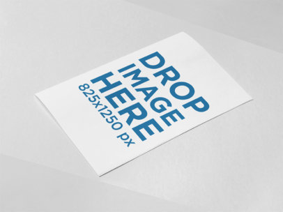 Bifold Brochure Template Lying on a Tricolor Surface a15288