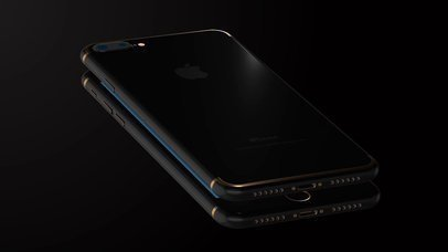 Video of Two Black iPhones 7 Plus Floating Over Each Other in a Black Room a15442